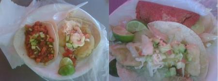 Tacos de Pescado, Atún y Marlin