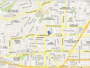 Mapa La Salteña, Guadalajara